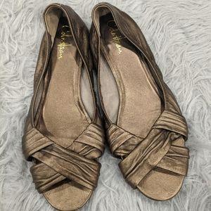 Cole Hann open toe flats